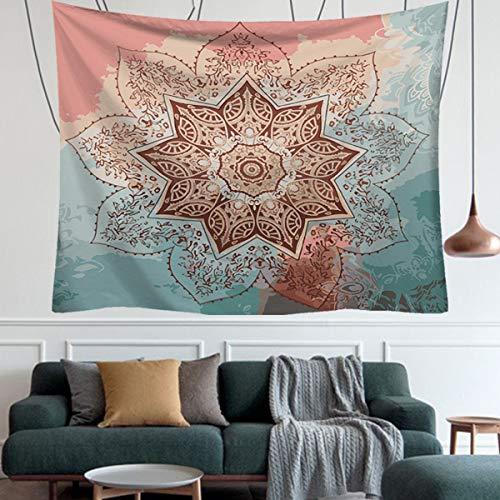 zizwe Wall Tapestry Bohemian Mandala Tapestry Wall Hanging Hippie Indian Beach Blanket Throw, Mandala Table Cover or Tablecloth Meditation Yoga Mat - 59.1 x 51.2, Boho Spread(59.1 x 51.2) (Blue)
