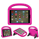 iPad 9.7 Case, iPad 9.7 Covers for Kids - ThreeJ Light Weight Portable Shockproof Super Protection Handle Stand Cover for iPad 9.7 2018/2017 (iPad 9.7-inch, Pink)