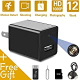 Mini Hidden Spy Camera USB Charger | Full HD 1080P Spy Camera with 32GB Memory Card | Motion Detection Loop Video Record Hidden Security Camera