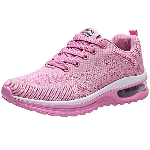 JUSTWIN Wedge Open Toe Slipper Mesh Breathable Lightweight tudent Running Shoes Non-Slip Air Sneaker Pink