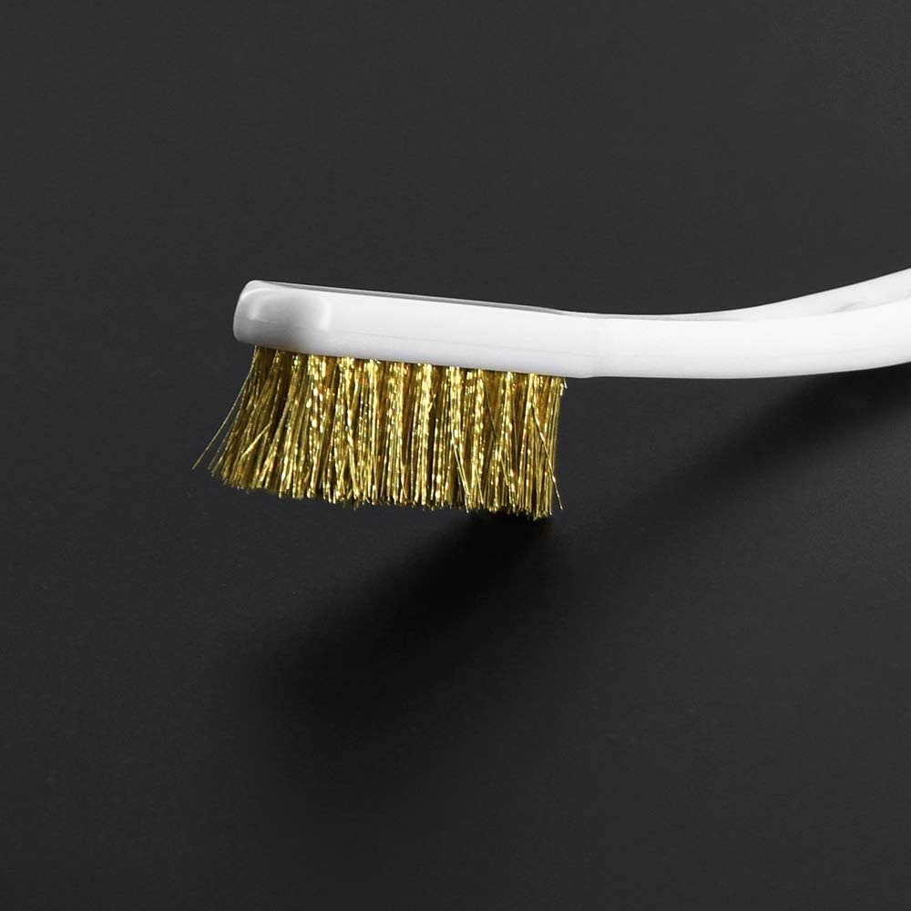 WNJ-TOOL 3D Printer Cleaner Tool Copper Wire Toothbrush Copper Brush Handle For Nozzle Block Hotend Cleaning Hot Bed Cleaning Parts Size : 1PCS
