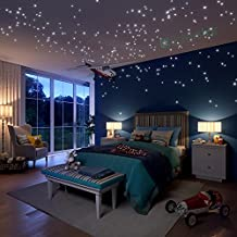 Glow In The Dark Stars Wall Stickers, 504 Dots and Moon for Starry Sky