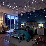 Glow in the Dark étoiles Stickers muraux, 504 points et lune pour ciel étoilé, Stars chambre d'enfant, beaux Stickers muraux pour toute chambre à coucher ou fête, étoiles pour plafond de LIDERSTAR, délice celui que vous aimez.