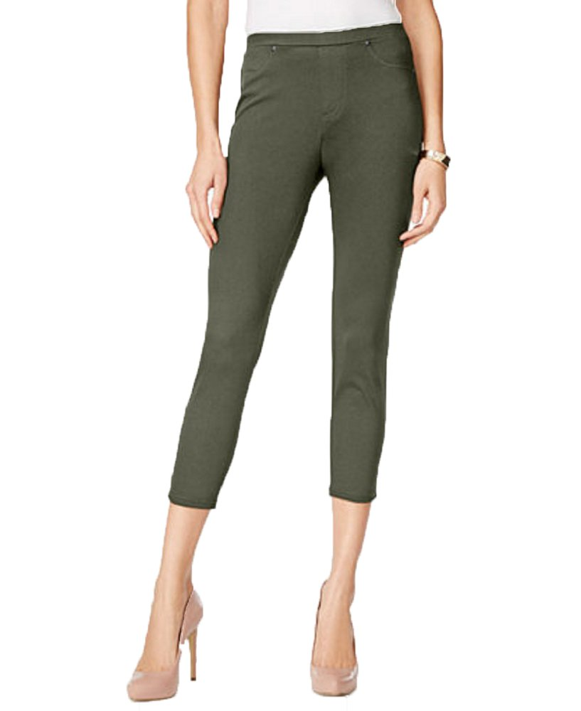 Style & Co. Twill Capri Leggings (Brown Clay, S)