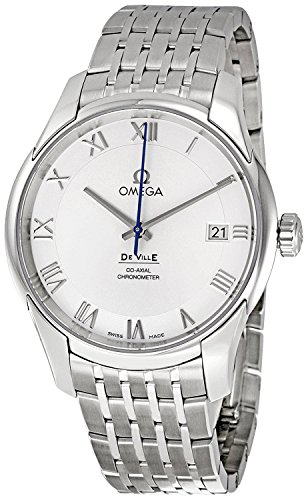 Omega-De-Ville-Automatic-Stainless-Steel-Mens-Watch-Silver-Dial-Calendar-43110412102001