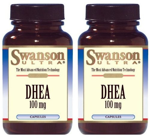 Swanson Ultra DHEA 100mg -- 2 Bottles each of 60 Capsules