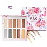 Zlolia 10 Colors New Nude Eyeshadow Palette-Professional Glitter Shimmer Matte-Natural Smooth Long Lasting Waterproof Cosmetics