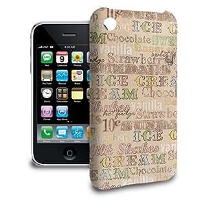 Phone Case For Apple iPhone 3/3GS - 50s Soda Shop Icecream Designer Wrap-Around