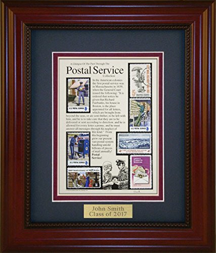 Collectable Framed (Postal Service - Unique Framed Collectible (A Great Gift Idea) with Personalized Engraved Plate)