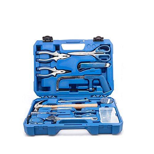 Valianto Haushalt Reparatur Schlüssel Satz Werkzeugkoffer Werkzeugset Werkzeugbox, 15-teilig