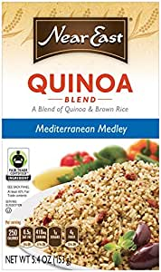 Near East Quinoa and Brown Rice Blend, Mediterranean Medley (Pack of 12 Boxes)