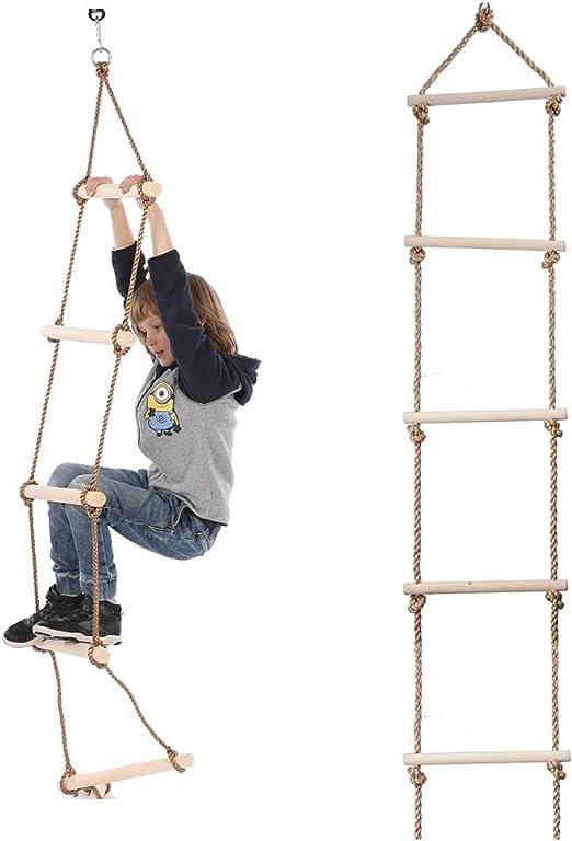 MALY Fuerza niños Kit de formación, La Escalera de Madera, los niños de Madera para niños Escalada Escalera, Columpio al Aire Libre, Fitness y Entretenimiento Juguetes: Amazon.es: Hogar