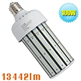 Caree-LED 480v 100W LED Corn Bulb 400 Watt Metal Halide Flood Fixture 5000K Daylight Mogul E39 Base 347v Commercial Security Light AC200-500V Warehouse Highbay Retrofit Bulb