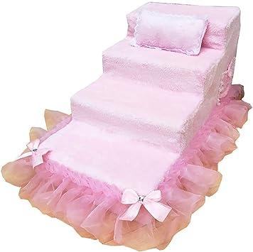 IG Escaleras medianas de 4 peldaños para cama alta, peldaños grandes para gatos Escalera rosa para mascotas Escalera para sofá alto, fondo antideslizante,80 * 40 * 50cm: Amazon.es: Bricolaje y herramientas