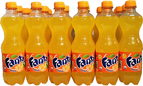 Fanta Classic Orange Soda (European Import) - CASE of 24 X 0.5L Bottles