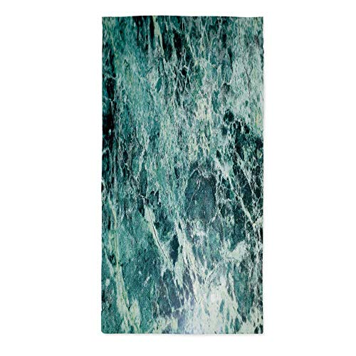 TecBillion Marble Printed Tablecloth,Stone Surface Fractures Facet Pattern Gem Formation Geology Artful Illustration for Rectangle Table Kitchen Dinning Party,24''W X 48''L