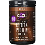 CLICK Coffee Protein, Protein & Real Coffee All-In-One, Meal Replacement Nutrition Drink, Mocha Flavor 15.8-Ounce Canister, 23 Essential Vitamins, Double Shot Espresso Coffee, Hot or Cold