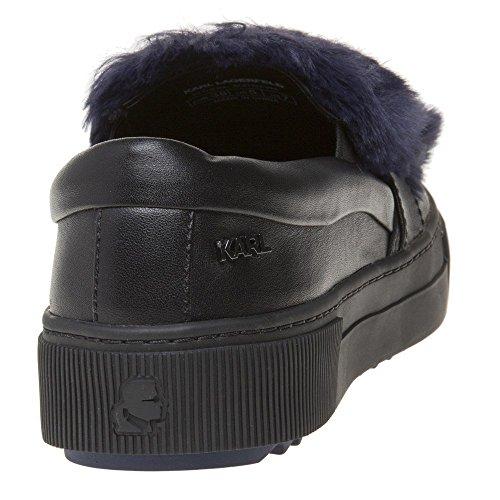 Karl Lagerfeld Luxor Kup Pombow Slip On Trainers Black Black 772ehK