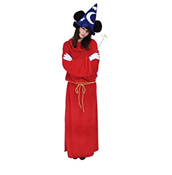 Disney Fantasia/Sorcereru0027s Apprentice -- Mickey Mouse Costume -- Unisex Standard Size  sc 1 st  Amazon.com : mickey mouse wizard costume  - Germanpascual.Com