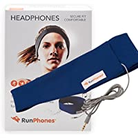 RunPhones Classic Exercise Headphones | Ideal for any Sport or Workout | Adjustable to Fit Over Ears Comfortably | Ultra-Slim Speakers Embedded inside Moisture-Wicking Headband, Royal Blue