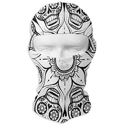 IDO Sugar Skull Full Face Masks UV Balaclava Hood Ski Mask Motorcycle Neck Warmer Tactical Hood for Cycling Outdoor Sports Mountaineering for Man/Women