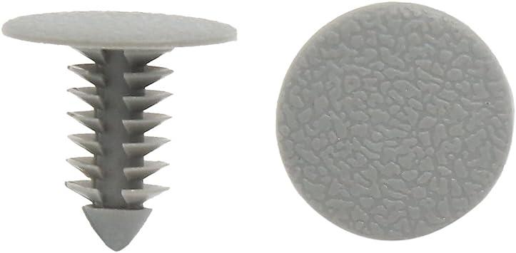 Sourcingmap 100stk Kunststoff Trimm Clips Stoßfänger Tür Nieten Befestiger Grau 8mm Für Auto De De Auto