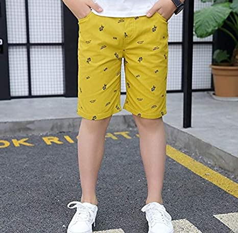Boys Casual Pants Boys Cotton Knee Length Shorts Kids Beach Pants Child  Sports Pants 3-15T Kids Summer Trousers Teenage Shorts: Amazon.in: Baby