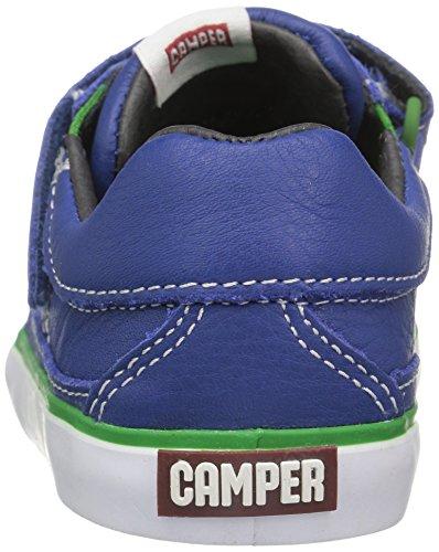 Camper Pursuit Medium Blue Leather Infant Sneakers Medium blue