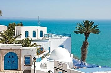 WonderwallPoster/® WP095A1 Tunesien Tunis Sidi BOU Said Poster Bild 61 x 91,5 cm DIN A1 Weitere Gr/ö/ßen erh/ältlich