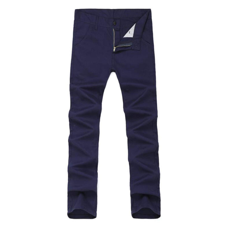 MRxcff New Mens Trousers Fashion Slim Fit Male Pants Khaki ArmyGreen Casual Mens Pant Male-Clothing