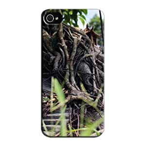 TPU Tearproof For Iphone 5s Nature Black Bonsai Tree Protective Hard Case
