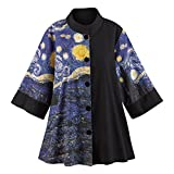 Women's Starry Night Swing Fashion Jacket - XXL