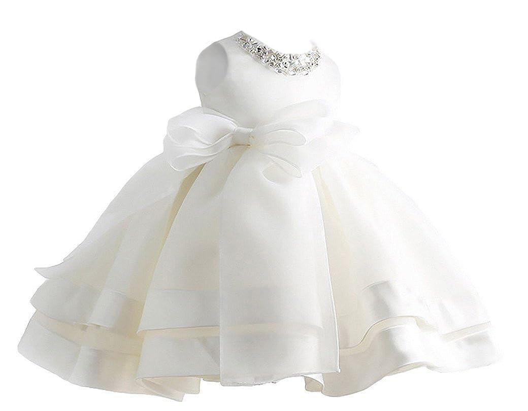 Happy Cherry Niñas Princesas Blanco Vestido de Fiesta Tutú Dress sin Mangas para Boda Dama de Honor Fiestas Cumpleaños 6 Tallas a Elegir: Amazon.es: Ropa y ...