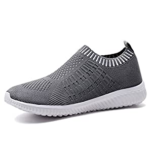 TIOSEBON Women's Athletic Shoes Casual Mesh Walking Sneakers - Breathable Running Shoes 9 US Deep Gray