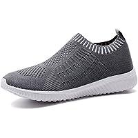 tiosebon Mujer Calzado deportivo casual–Walking Zapatillas de malla transpirable zapatillas de running