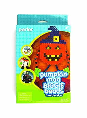 Perler Fused Beads Kit, Pumpkin Man Biggie Bead
