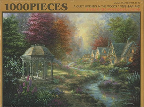 """Chamberart 1000Piece Premium Jigsaw Puzzles """"A Quiet Morning In The Woods"""" A-1079 By Nicky Boehme"""