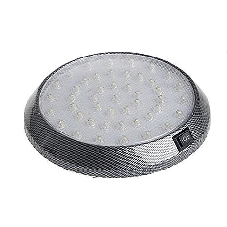 Lámpara de techo para coche, muy brillante, 12 V, 46 LED, luz de lectura, para interior de vehículo, interior de techo, interior