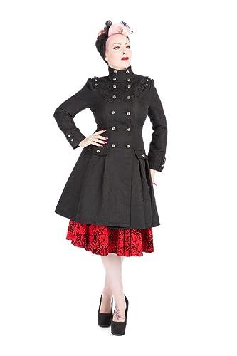 Impermeable Victoriano con Brocado Militar para Mujeres