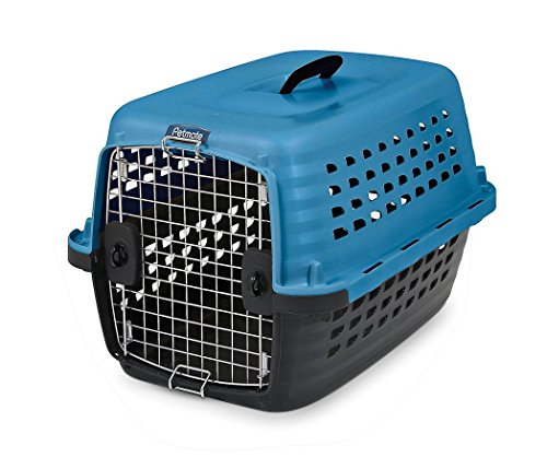 UPC 029695410406, Petmate 41040 Compass Fashion Pets Kennel with Chrome Door, Island Blue/Black