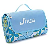 Jhua Waterproof Picnic Blanket Large Picnic Mat Foldable Moistureproof Camping Picnic & Beach Blanket for Outdoors/ Travelling/ Camp (Light Blue)