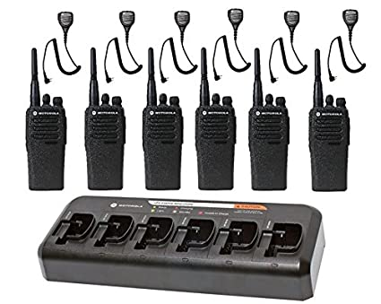 Amazon com: 6 Pack of Motorola CP200d UHF Two Way Radios
