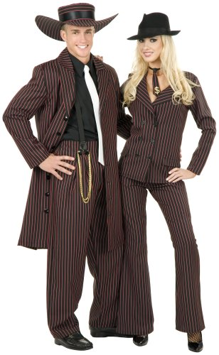 Zoot Suit Black/Red Adult Costume Size X-Large