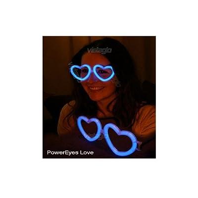 1 paire de Lunettes Fluo Coeur Bleues - idéal pour vos soirées