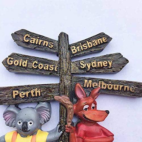 Australie Wildlife 3d Aimant de r/éfrig/érateur de voyage souvenirs de Autocollant maison et d/écoration de cuisine Australie Aimant de r/éfrig/érateur /à partir de Chine
