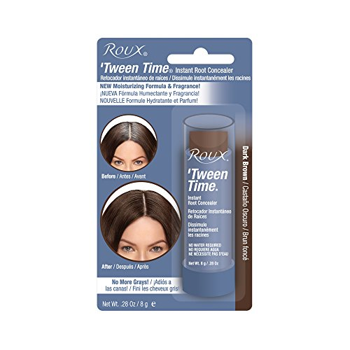 Hair Color Temporary Cover - Roux Temporary Haircolor Touch-Up Stick Dark Brown, 1 ea