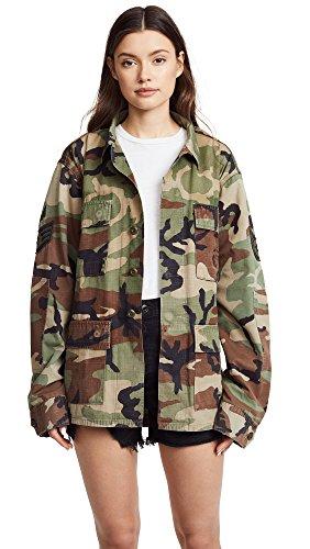 Kendall + Kylie Women's Open Back Jacket, camo Print, Medium/Large