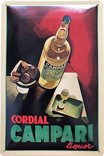 Deko7 Cartel de Chapa 30 x 20 cm Cordial Campari Liquor ...