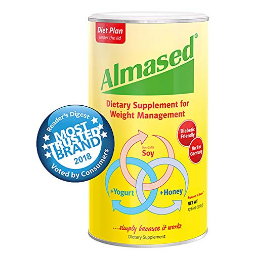 Almased Meal Replacement Weight Management 17.6 oz (Coconut Oil Honey And Cinnamon In Coffee)