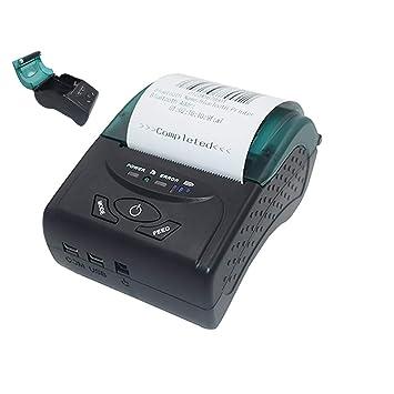 ZUEN BT Impresora térmica USB, impresoras portátiles ...